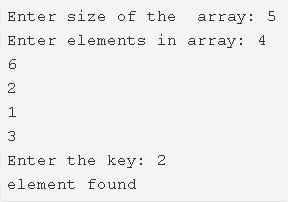 C Program To Search An Element In An Array